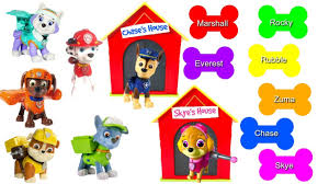 learning colors video children match paw patrol pups