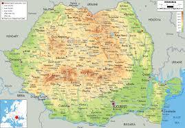 Map Of Equator Physical Map Of Romania Ezilon Maps