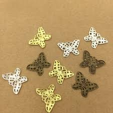 hair clasps 22 16mm vintage filigree butterfly charms pendant bu yao