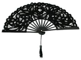 black lace fan vintage style parasols and fans