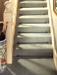 interior contemporary patterned carpet stair runner combined with