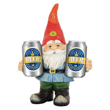 exhart gnome holding two cans statue reviews wayfair