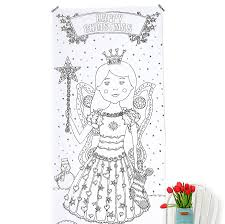 personalised colour christmas fairy poster close