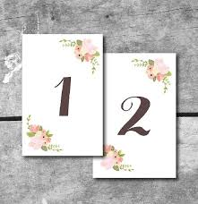8 best images of table number cards printable printable table