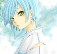 boys light blue tie anime boy light blue hair
