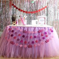 Pink Table Skirt by Ful Wedding Tulle Tutu Table Skirt 100 Cm 80 Cm Princess Baby