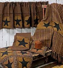 Barn Star Kitchen Decor by 28 Primitive Country Kitchen Curtains Country Curtain