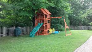 exterior interesting outdoor playground design with oak backyard