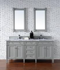 Bathroom Vanities 72 Inches Double Sink by Contemporary 72 Inch Double Sink Bathroom Vanity Gray Finish No Top