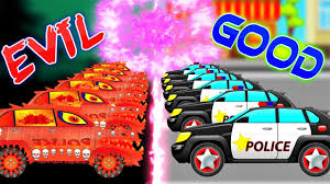 police car war w good vs evil street vehicles battles for