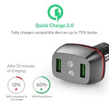 Anker Dual Port Car Charger Quick Charge 2 0 Anker 36w Dual Usb Car Charger Powerdrive 2 For