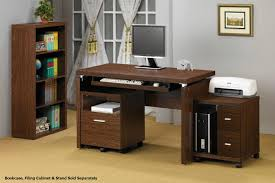 Computer Desk With Bookcase by Brown Wood Computer Desk Steal A Sofa Furniture Outlet Los