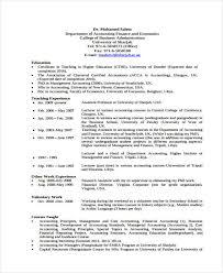 curriculum vitae templates pdf accounting curriculum vitae templates 7 free word pdf format