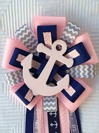 anchor baby shower pin by erin motichka on baby shower corsages sashes