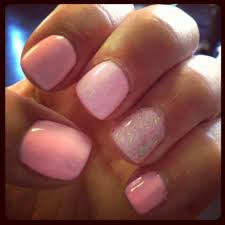 spring time nails light pink with opi u0027which is witch u0027 accent