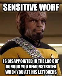 Worf Memes - sensitive worf memes quickmeme