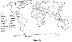 africa map worksheet