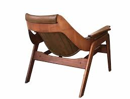 jerry johnson walnut sling lounge chair u2014 the furniture dolly