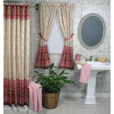 Bathroom Window And Shower Curtain Sets Shower Curtain And Matching Window Treatments Make Clip Ring