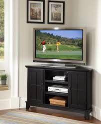 Arts And Crafts Living Room by Home Styles Arts And Crafts Corner Tv Stand Black Finish Cottage