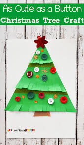 as cute as a button christmas tree craft for kids easy to make