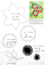 pretty paper flowers diy including template red ted art u0027s blog