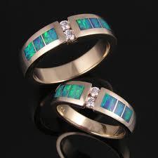 Opal Wedding Ring by Australian Opal Wedding Ring Set With Diamonds Hileman Jewelry