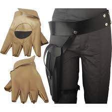 rogue one a star wars story jyn erso holster belt gloves costume