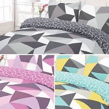 geometric pattern bedding wardley home geometric shapes pattern bold bright duvet quilt cover