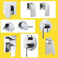 brass chrome square round bath shower mixer diverter valve faucet