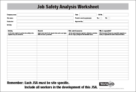 job safety analysis template 9 free word pdf documents