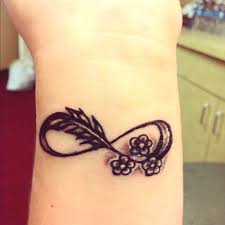 feather infinity tattoo on wrist photo 2 photo pictures and
