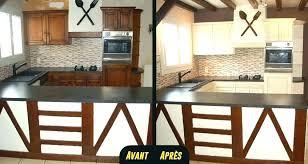 relooker sa cuisine en chene repeindre une cuisine en chene trendy meuble de cuisine a peindre