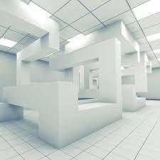 bureau d architecture d int ieur 3d intérieur de pièce vide abstraite de bureau illustration