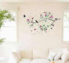 bedroom wall stickers colorful tree and bird wall art flowers tree bedroom wall decals
