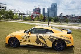 nissan altima coupe nashville tn bright yellow 2017 nissan gt r donated to nashville predators