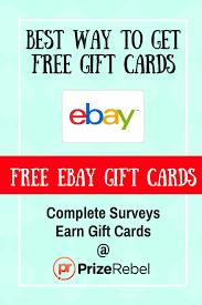 free ebay gift card prizerebel