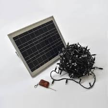solar lights twilight warm white 200 leds with black cable