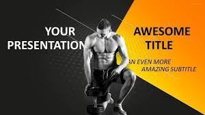 sports bodybuilding powerpoint template sports powerpoint