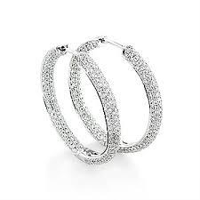 inside out diamond hoop earrings itshot announces 67 on 14k gold inside out diamond hoop