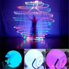 led poi thrown balls belly led multicolor light
