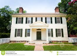american colonial architecture large white colonial style home stock images image 27415844