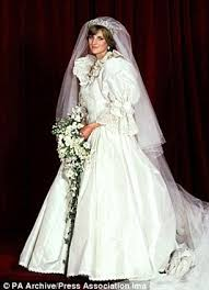 history of the wedding dress elizabeth emanuel s collage of cuts from princess diana s