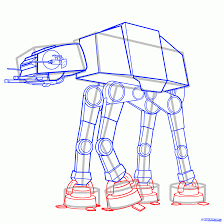 how to draw an imperial walker imperial walker step