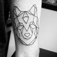 tattoo geometric outline simple geometric wolf black ink outline deisgn male tattoo ideas