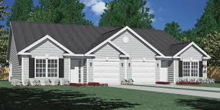 Single Story Duplex Floor Plans House Plan D1196 B Duplex 1196 B Elevation For The Home
