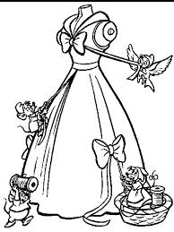 cinderellas ball gown cinderellas slipper coloring disney
