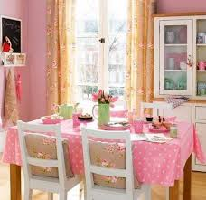 shabby chic dining room in pink color looks so feminine 6627