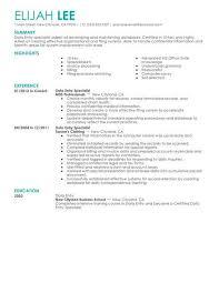 data entry resume best data entry resume exle livecareer