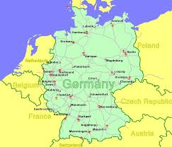 map of germany and surrounding countries with cities germany airports flights to germany from the uk or ireland